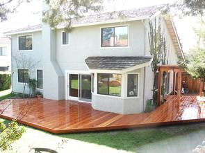 Redwood deck and arbor