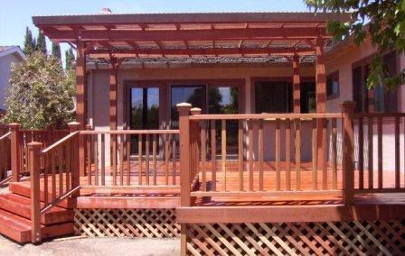 Custom Redwood Deck Project